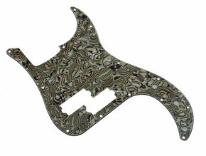 *NEW Bronze Abalone PICKGUARD for Fender Standard Precision P Bass 3 Ply 13 Hole