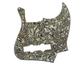 * NEW Bronze Abalone PICKGUARD for Fender Jazz Bass 3 Ply Standard 10 Hole