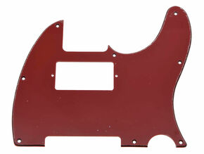 *NEW Red/Black/Red HUMBUCKER Telecaster PICKGUARD for USA Fender Tele 8 Hole