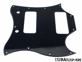 * NEW Black PICKGUARD for USA Gibson SG *Special* P-90s Guitar 1 Ply 11 Hole