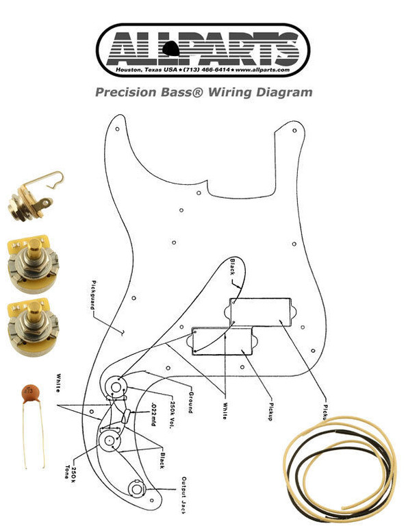 NEW Precision Bass Pots Wire & Wiring Kit for Fender P Bass Diagram  EP-4139-000 - The STRATosphere | Bass Wiring Diagrams |  | The STRATosphere
