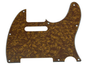 *NEW Gold Pearloid Telecaster PICKGUARD for Fender USA Standard Tele 3 Ply 8Hole