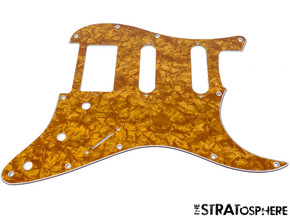 * NEW Gold Pearloid HSS Stratocaster PICKGUARD for Fender Strat 3 Ply Standard