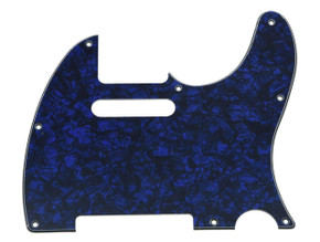 *NEW Blue Pearloid Telecaster PICKGUARD for Fender USA Standard Tele 3 Ply 8Hole