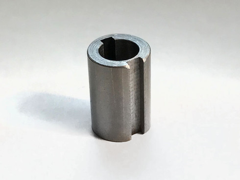 "Steel adapter to fit 3/4"" bore sprockets to 12mm diameter shafts. Inside 3/16"" and outside 4mm keyways."