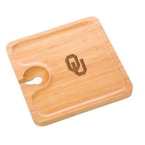Oklahoma Bamboo Party Plate