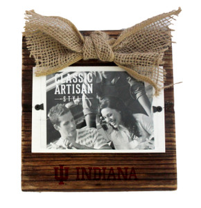 Indiana Wood Frame with Burlap Bow