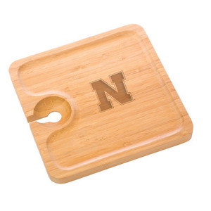 Nebraska Bamboo Party Plate