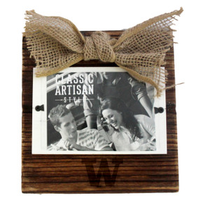 Washington Wood Frame with Burlap Bow