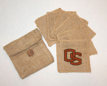 Oregon State Burlap Coasters
