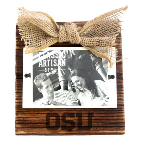 Oregon State Wood Frame with Burlap Bow