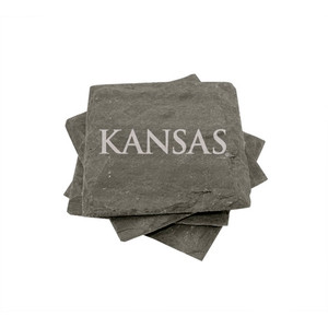 Kansas Slate Coasters (set of 4)