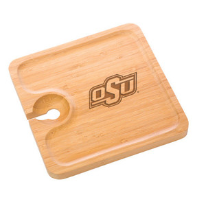 Oklahoma State Bamboo Party Plate