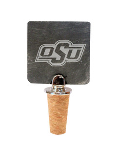 Oklahoma State Slate Bottle Stopper