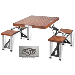 Oklahoma State Folding Picnic Table for 4