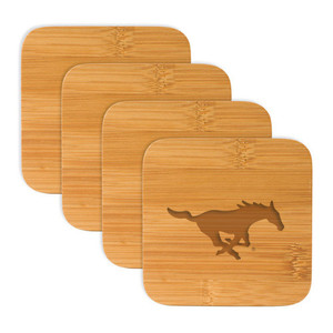 Southern Methodist Bamboo Coasters