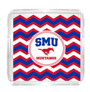 Southern Methodist Lucite Tray 12x12