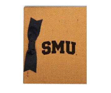 Southern Methodist Burlap Brag Book