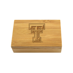 Texas Tech Bamboo Corkscrew Set