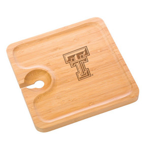 Texas Tech Bamboo Party Plate