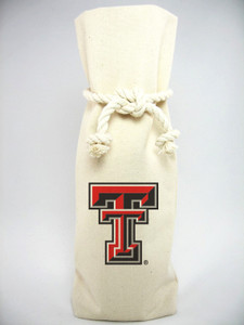 Texas Tech Canvas Bottle Tote