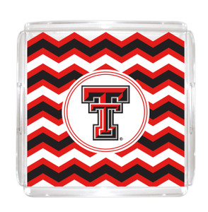 Texas Tech Lucite Tray 12x12