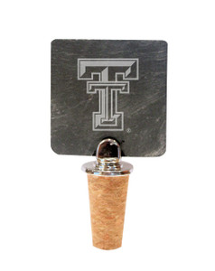 Texas Tech Slate Bottle Stopper
