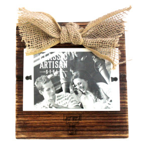 Texas Tech Wood Frame with Burlap Bow