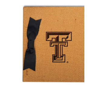 Texas Tech Burlap Brag Book