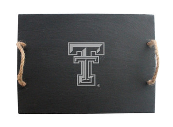 Texas Tech Slate Server w/ Rope Handles