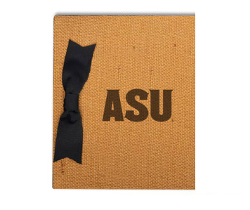 Arizona State Burlap Brag Book
