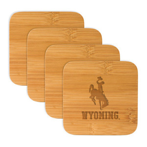 Wyoming Bamboo Coasters