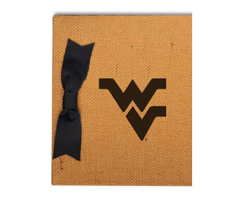 West Virginia Burlap Brag Book