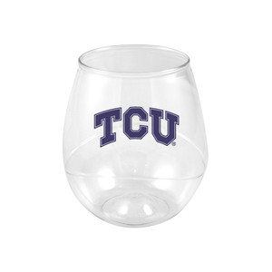 Texas Christian 16oz Plastic Beverage (set of 4)