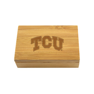 Texas Christian Bamboo Corkscrew Set