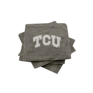 Texas Christian Slate Coasters (set of 4)