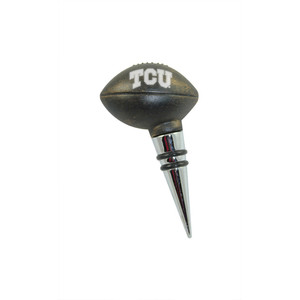 Texas Christian Vintage Football Bottle Stopper
