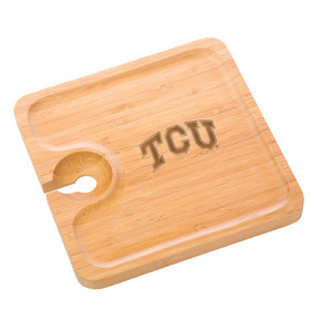 Texas Christian Bamboo Party Plate