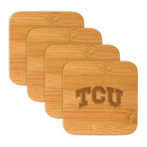 Texas Christian Bamboo Coasters