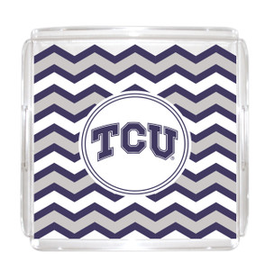 Texas Christian Lucite Tray 12x12