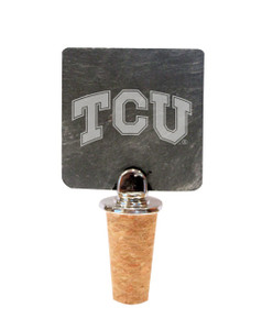 Texas Christian Slate Bottle Stopper