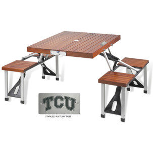 Texas Christian Folding Picnic Table for 4