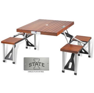 Iowa State Folding Picnic Table for 4