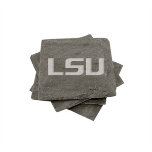 LSU Slate Coasters (set of 4)