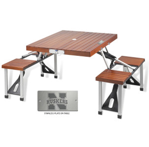Nebraska Folding Picnic Table for 4