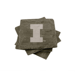 University of Illinois Slate Coasters (set of 4)