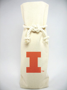University of Illinois Canvas Bottle Tote