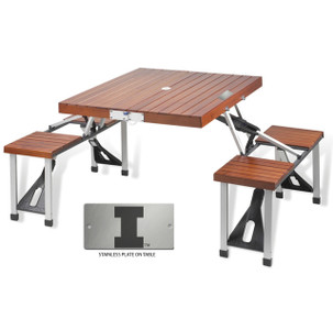 University of Illinois Folding Picnic Table for 4