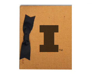 University of Illinois Burlap Brag Book