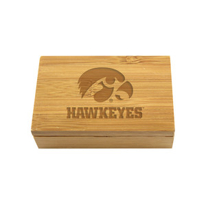 University of Iowa Bamboo Corkscrew Set